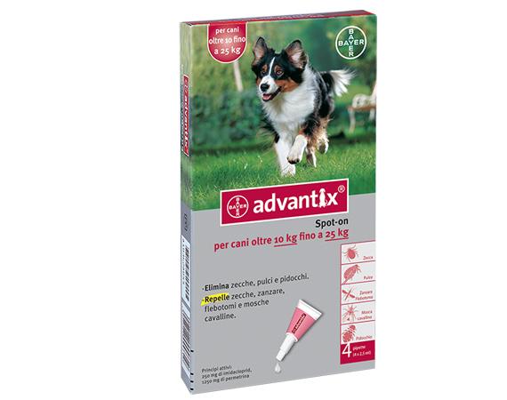 antiparassitario advantix bayer per cani oltre 10 kg