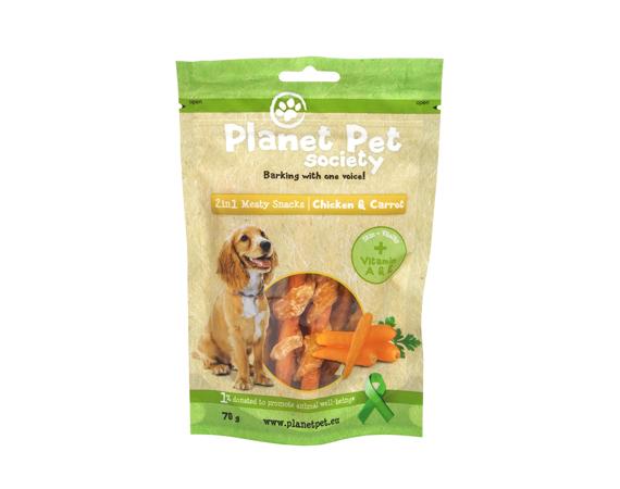 Snack Cane Planet Pet Society Pollo e Carota