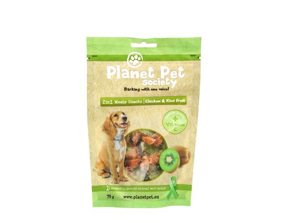 Snack Cane Planet Pet Society Pollo e Kiwi