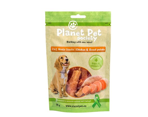 Snack Cane Planet Pet Society Pollo e Patate Dolci