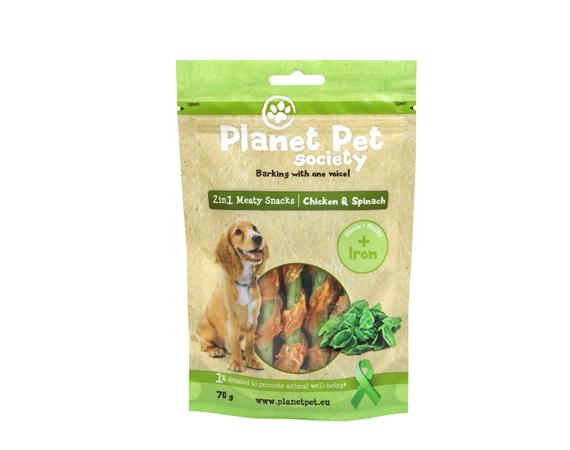 Snack Cane Planet Pet Society Pollo e Spinaci