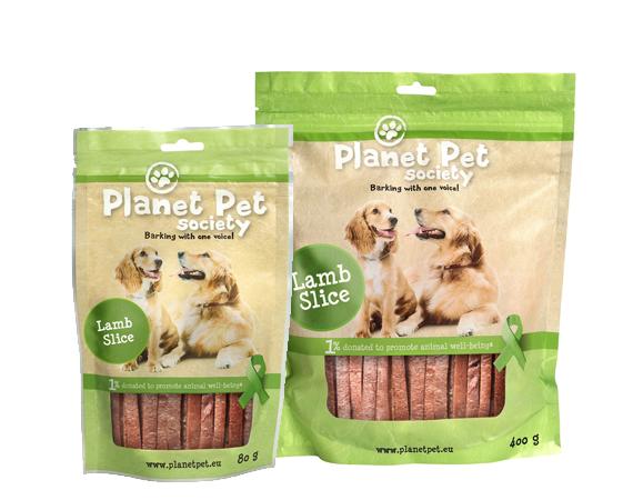Snack Cane Planet Pet Society Strisce di Agnello