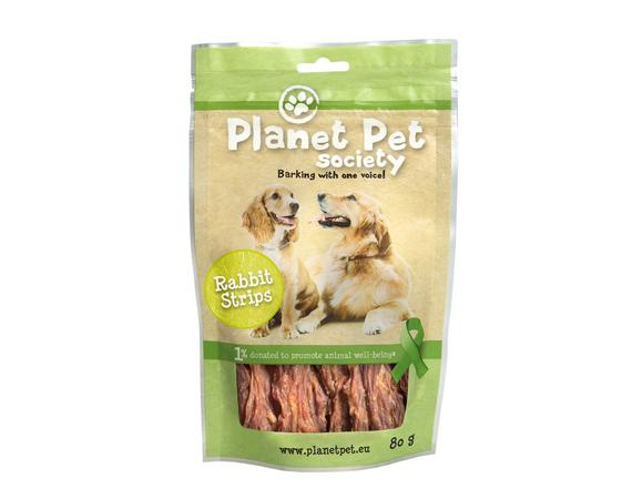 Snack Cane Planet Pet Society Strisce di Coniglio