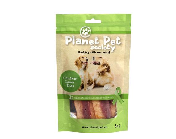 Snack Cane Planet Pet Society Strisce di Pollo + Agnello