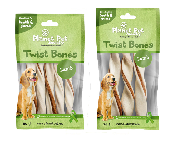 Snack Cane Planet Pet Society Agnello Twist