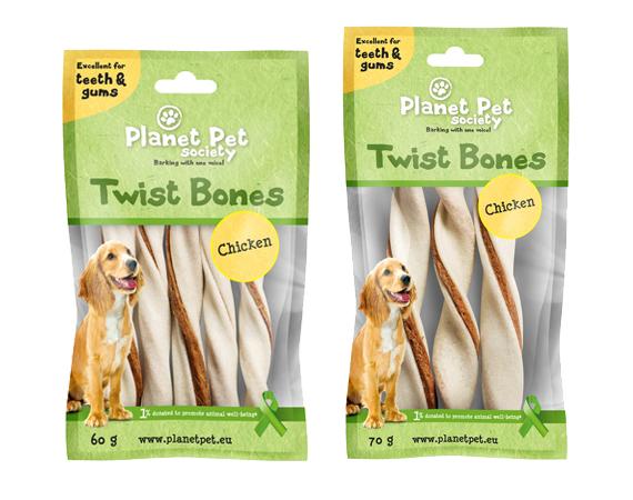 Snack Cane Planet Pet Society Pollo Twist