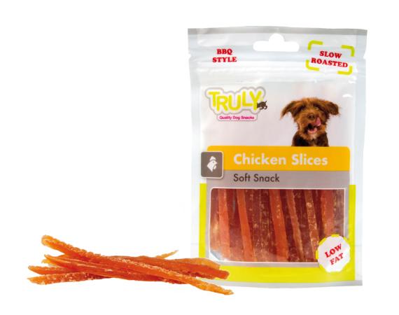 Snack cane strisce di pollo