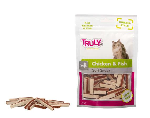 Snack gatto pesce e pollo