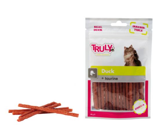Snack gatto sticks all'anatra con taurina